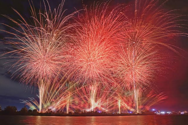firework en japan matsuri clima verano