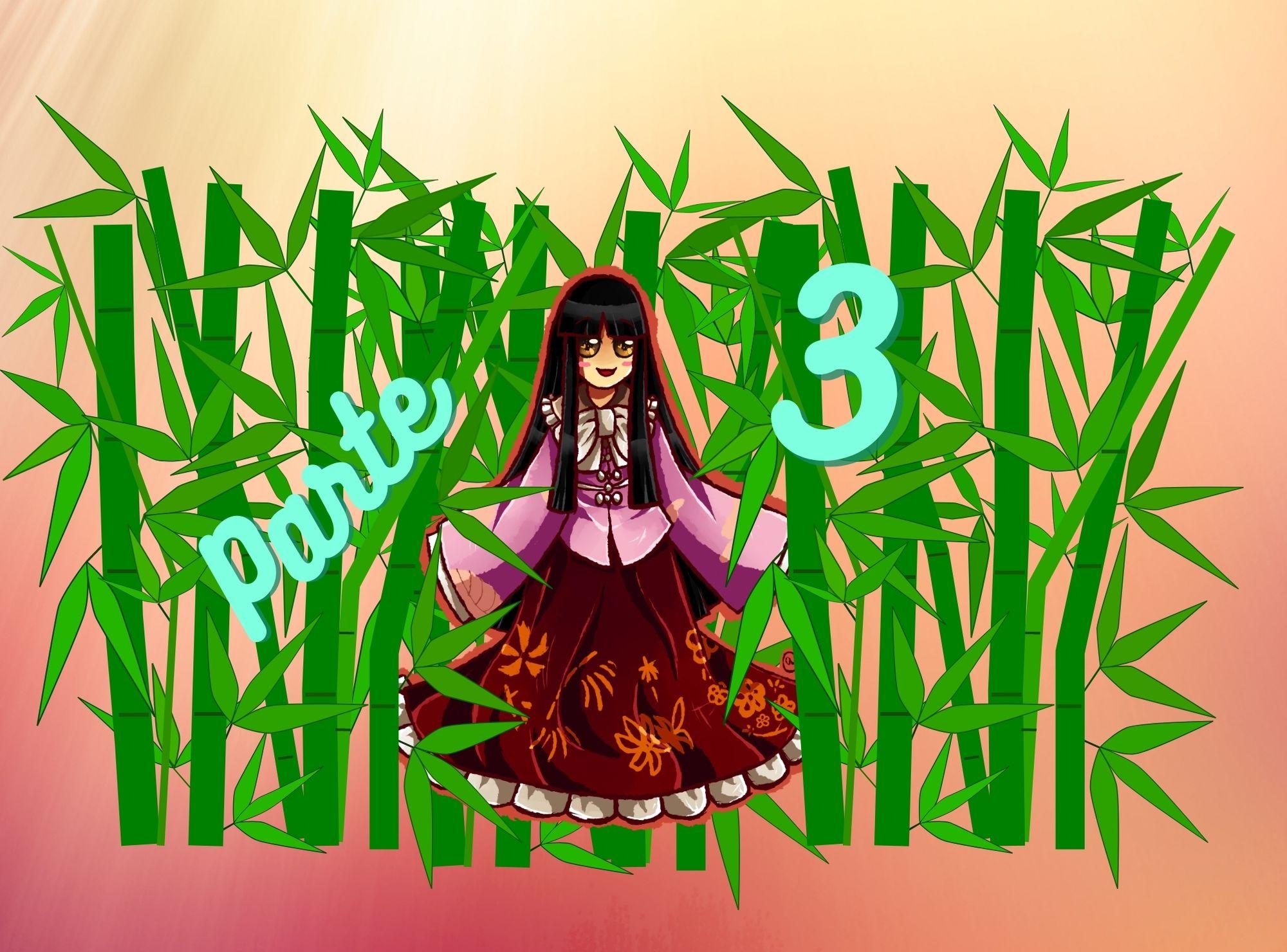 Práctica de lectura N5 de Hiragana: Princesa Kaguya parte 3: Los 5 hombres persistentes