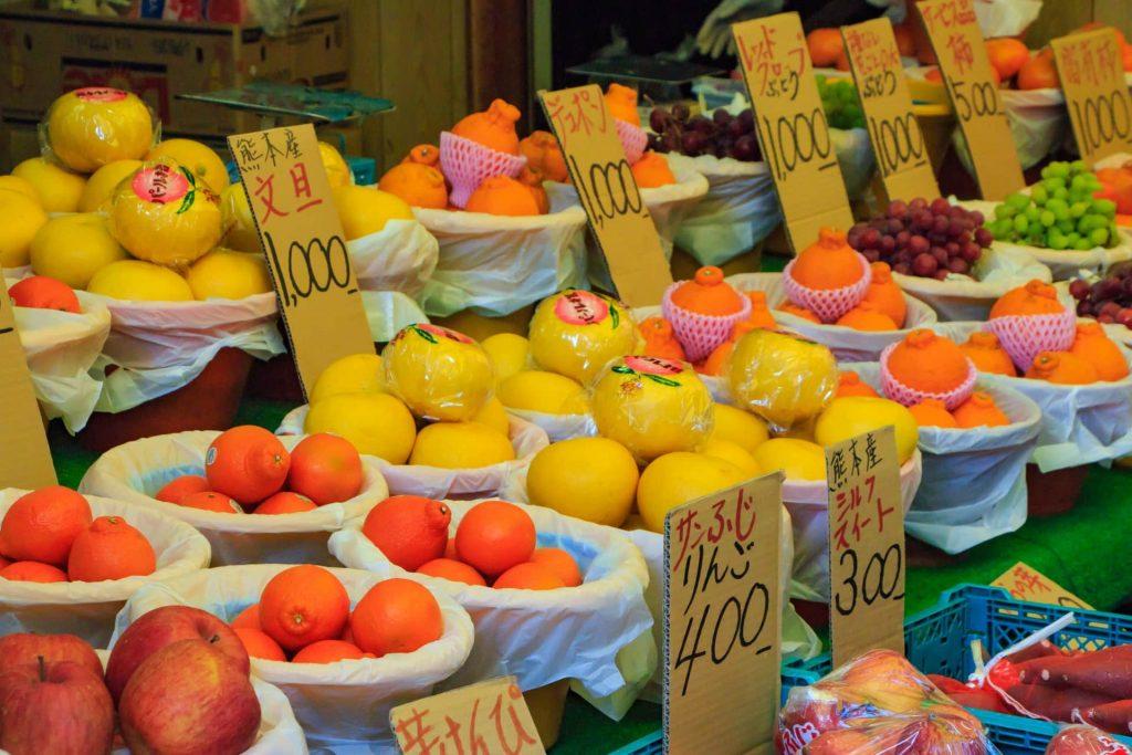 frutas examen japones