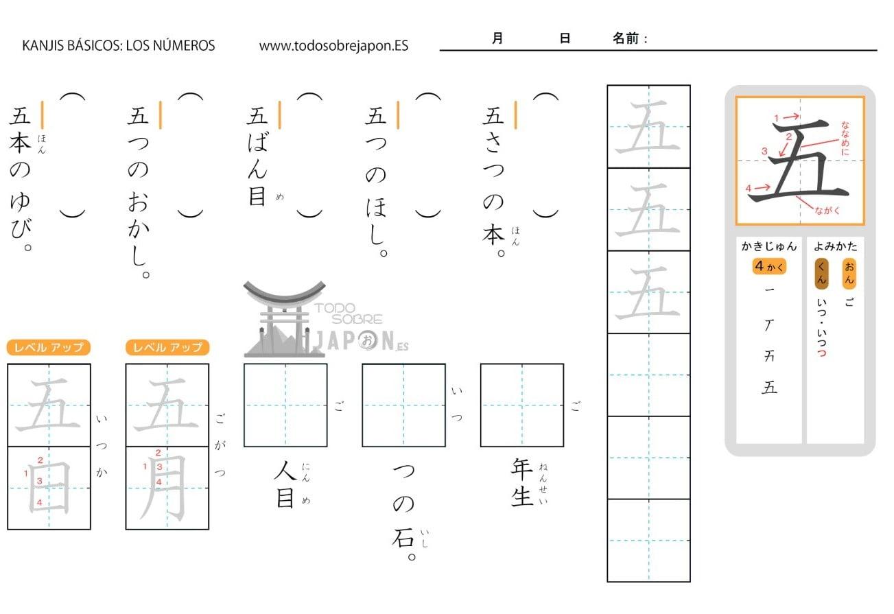 SIGNIFICADO KANJI EN JAPONÉS: LECTURAS, EJERCICIOS Y TRAZOS (PARTE 1)