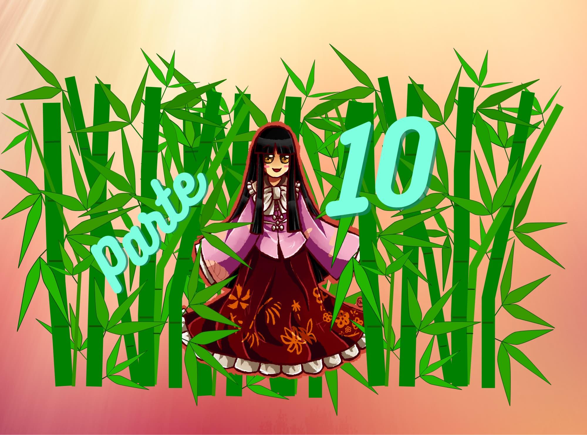 Práctica de lectura N5 de Hiragana: Princesa Kaguya parte 10 (Los mariscos nacidos del huevo de la golondrina)
